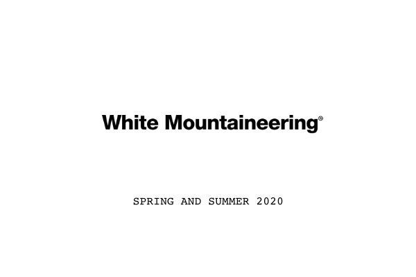 White Mountaineering  SPRING AND SUMMER 2020の写真