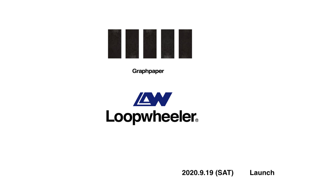 Graphpaper  ×  LOOPWHEELER (2020.9.19)の写真