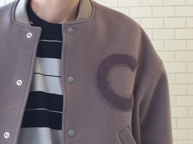 CLANEのSTADIUM JACKET。の写真