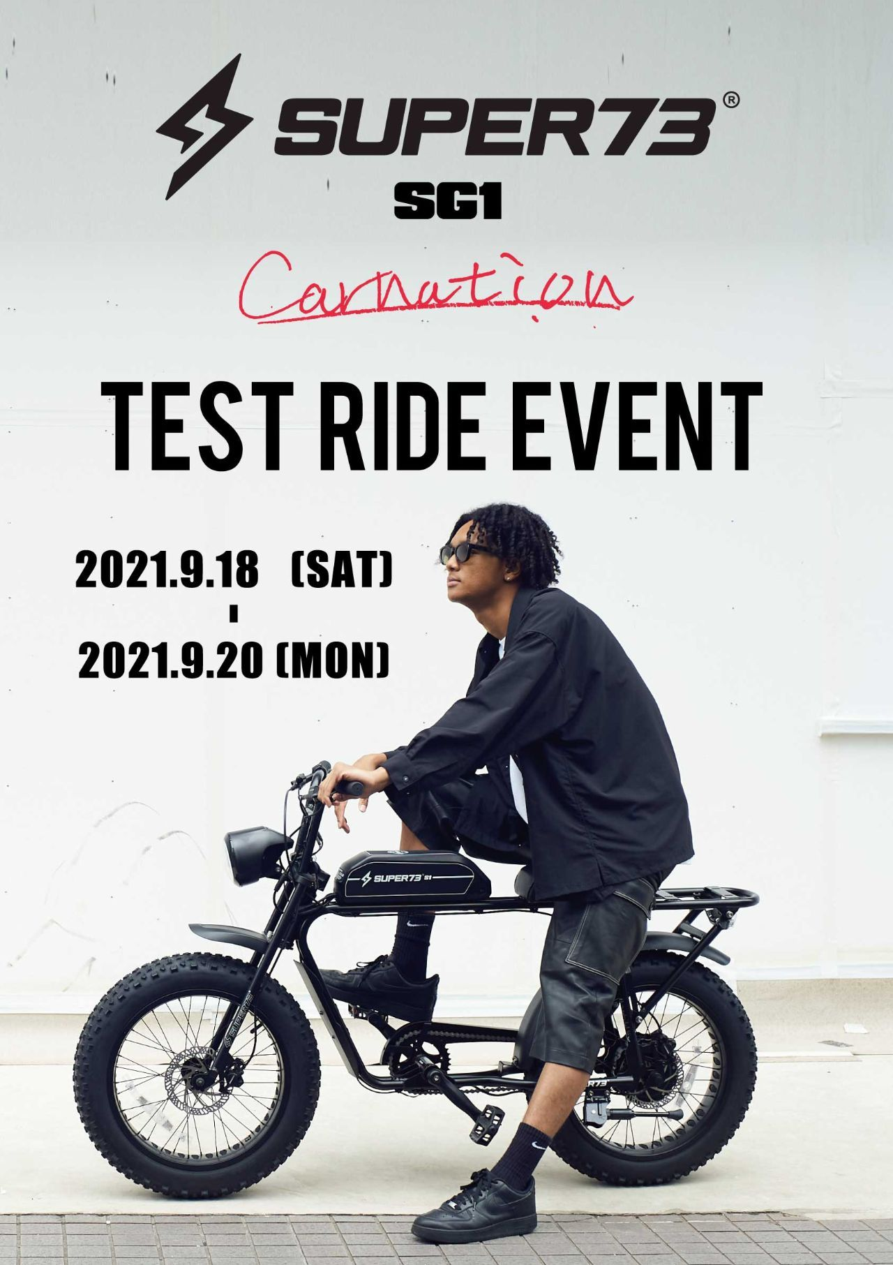 SUPER73  TEST RIDE EVENT  at. Carnationの写真