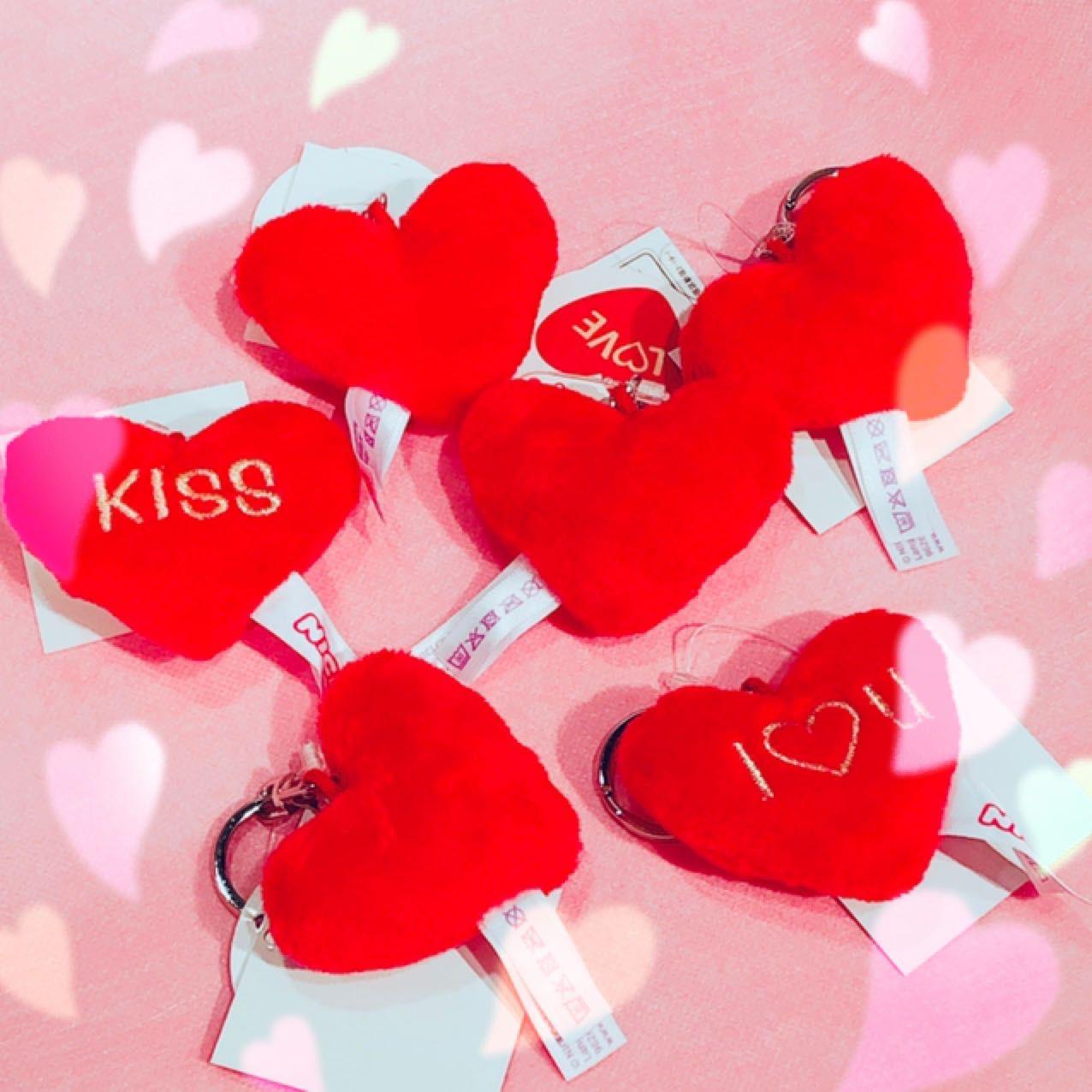「【バレンタイン応援!】ハートキーホルダープレゼント♡」の写真