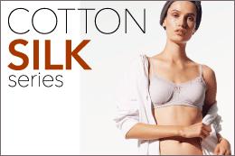 [コットンシルクシリーズ]<br />保湿性の高いシルク<br />吸収性の高い綿