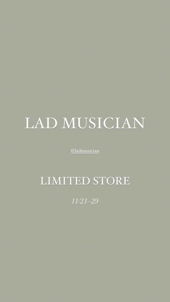 LAD MUSICIAN LIMITED STORE styleの写真