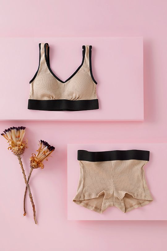COTTON SILK HALF TOP BRA<br>C165series