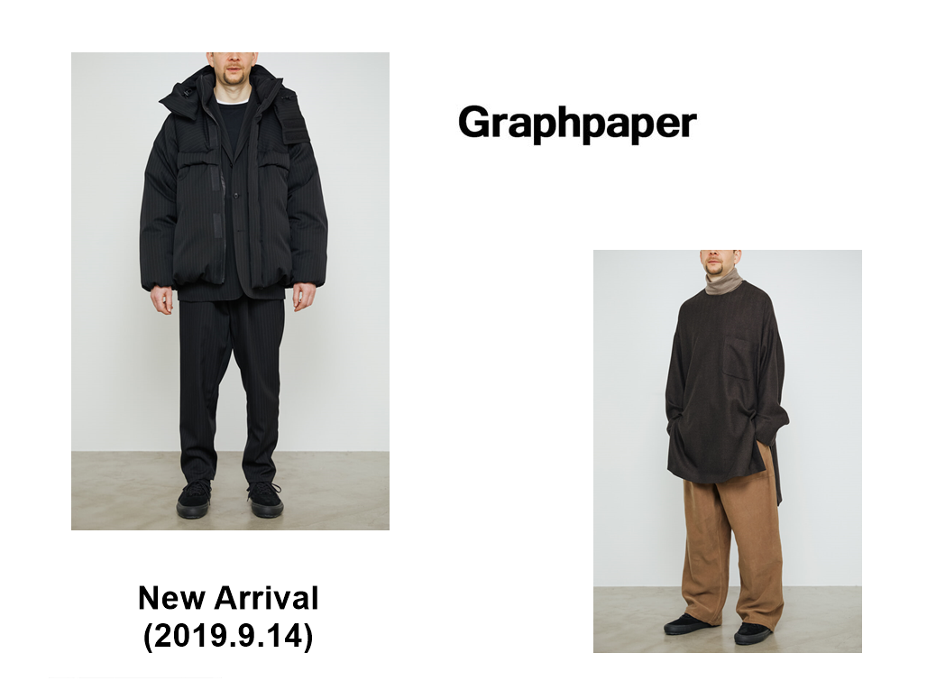 Graphpaper New Arrival (2019.9.14)の写真