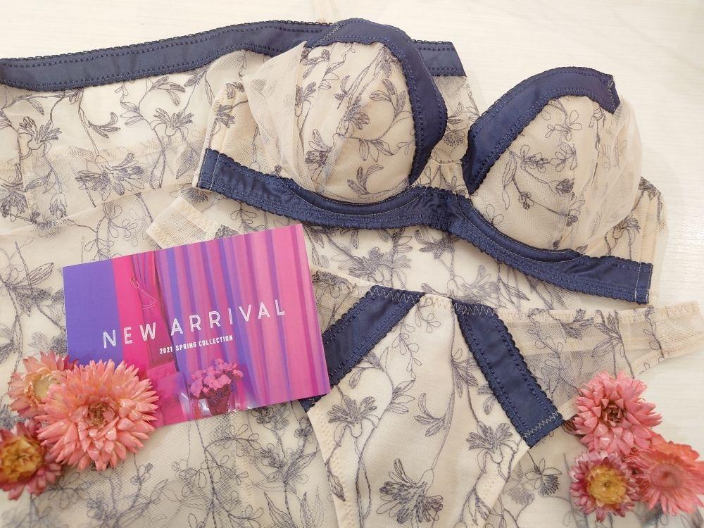 New items☆花々が揺れるチュールレースのシアーライトブラ登場☆'21SS Collection【大丸梅田店】の写真