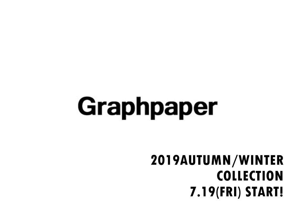 Graphpaper 2019 AUTUMN/WINTER COLLECTIONの写真