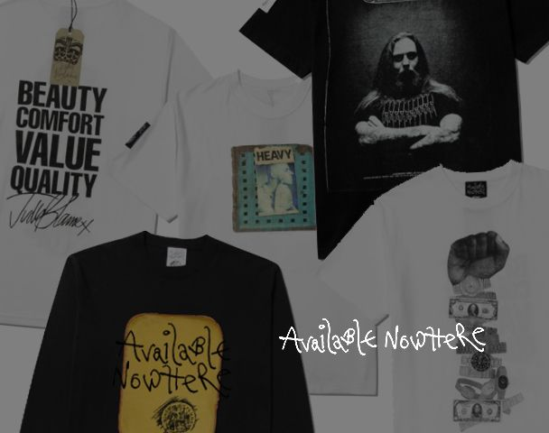 AVAILABLE NOWHERE / 新作アイテム入荷