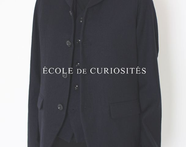 """ECOLE DE CURIOSITE / 新作アイテム入荷""""JACQUES CREASED WOOL JACKET""""and moreの写真"""