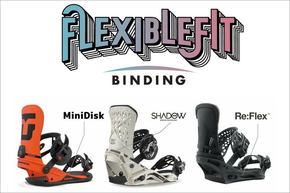 柔軟性に優れた最高のフィット感のバインディングシリーズ「フレキシブルフィット」