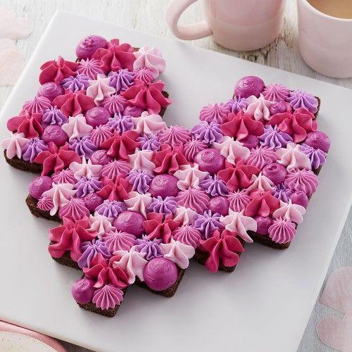 「バレンタインに!色々なハートのケーキ」の写真