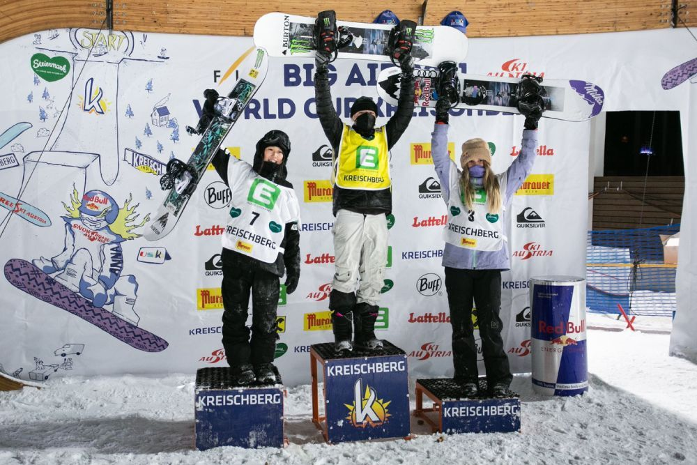 FIS SNOWBOARD WORLD CUP BIG AIR KREISCHBERG村瀬心椛が優勝