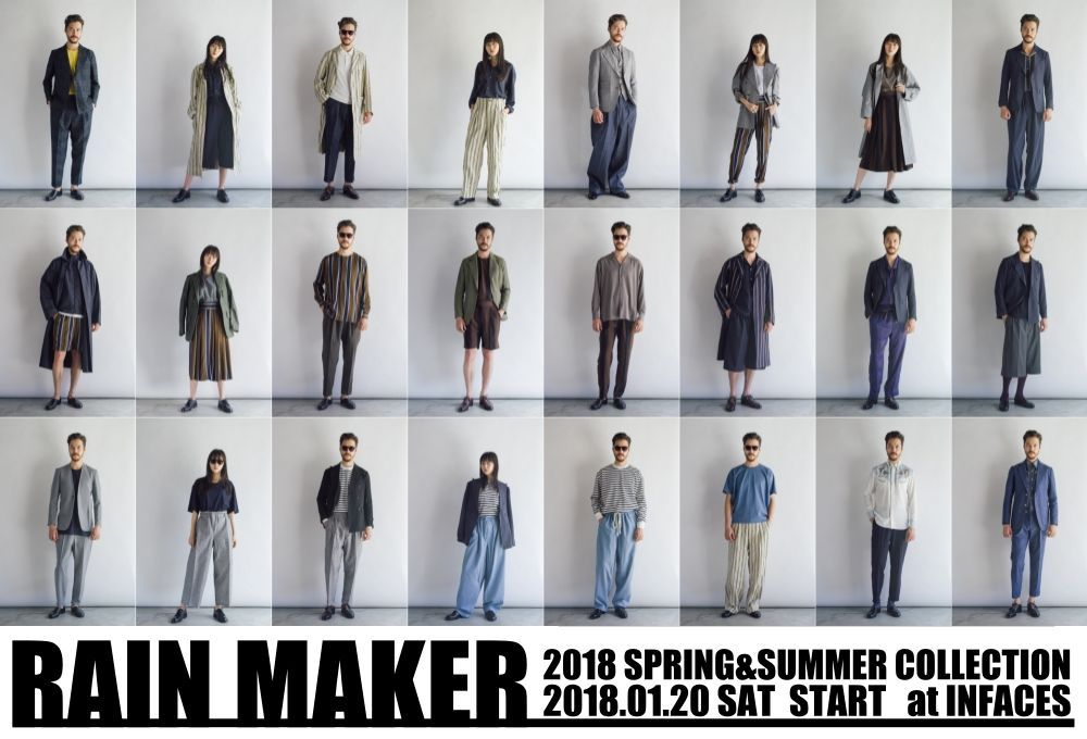 RAIN MAKER 2018 Spring&Summer Collectionの写真