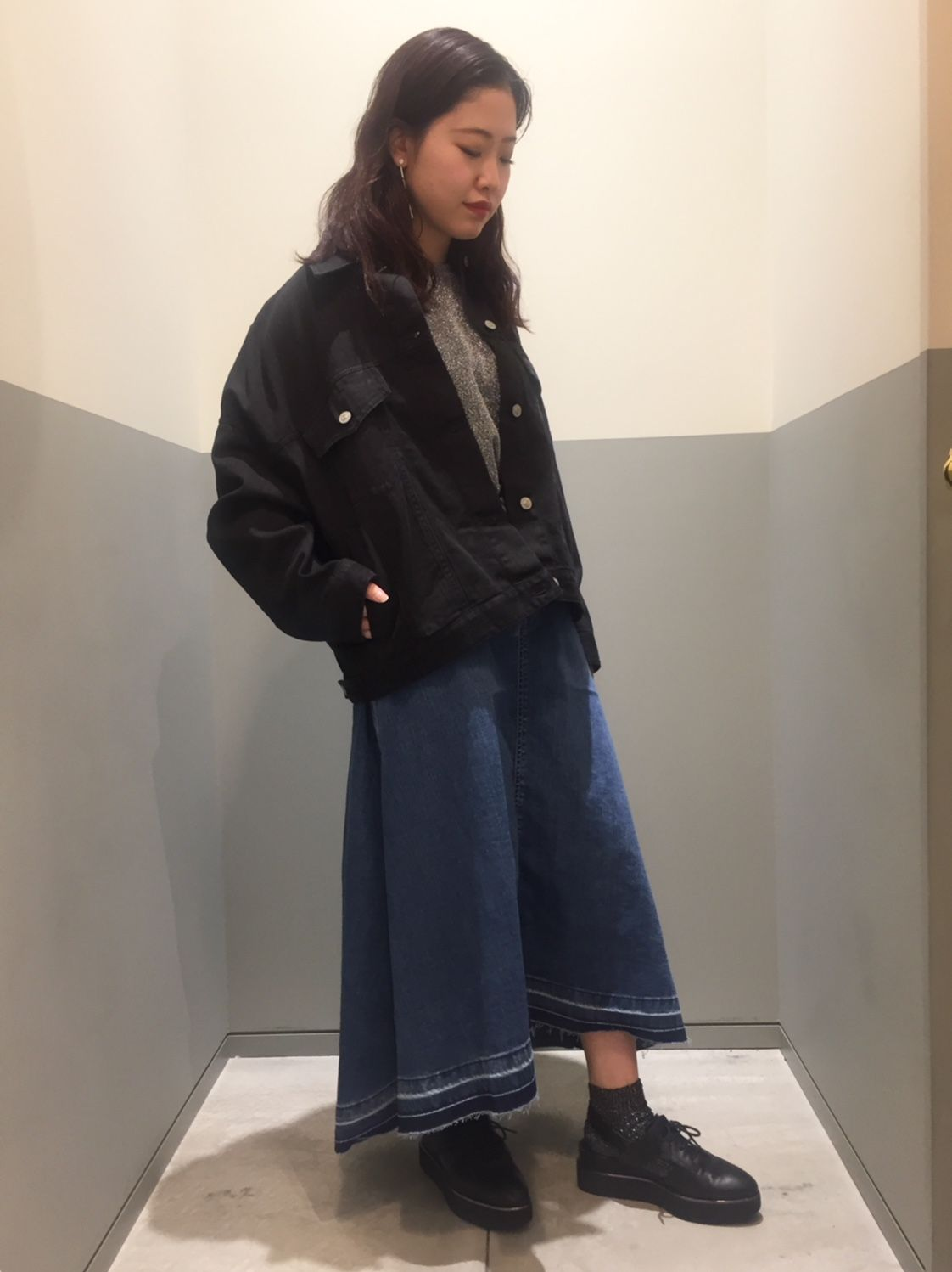 denim mix styleの写真