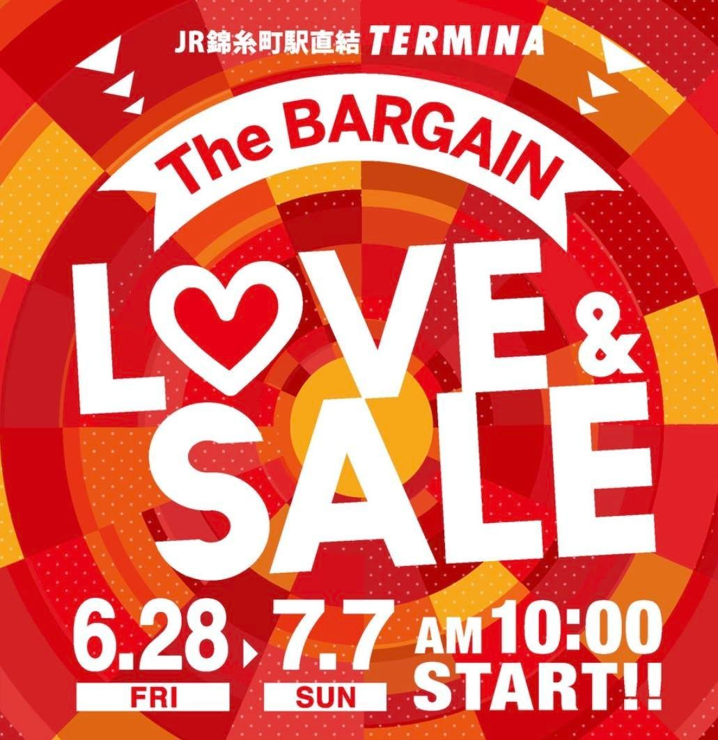 LOVE&SALE スタート!!【錦糸町テルミナ店】の写真