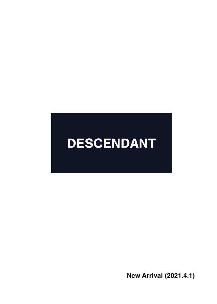 DESCENDANT New Arrival (2021.4.1)の写真