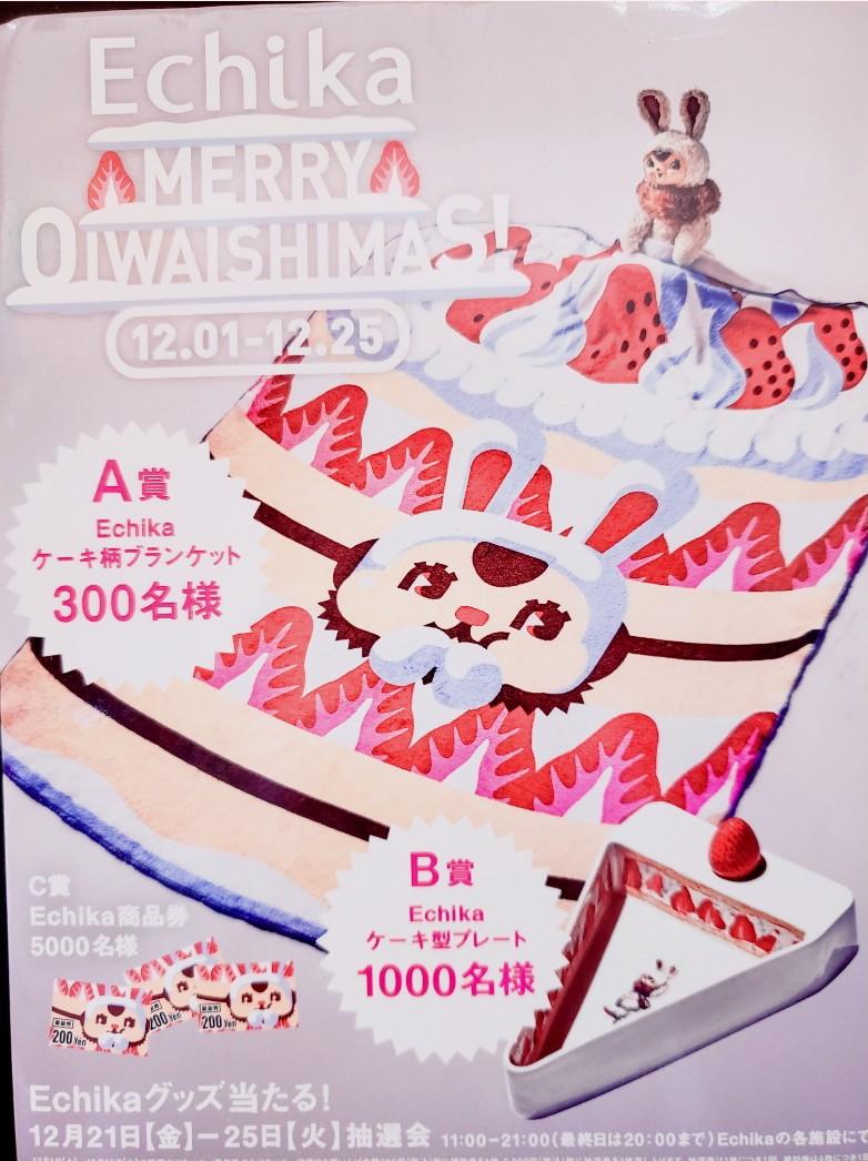 「Echika池袋の抽選券配布中!」の写真