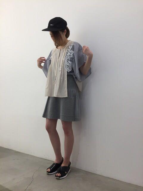 ニットのスカート。の写真