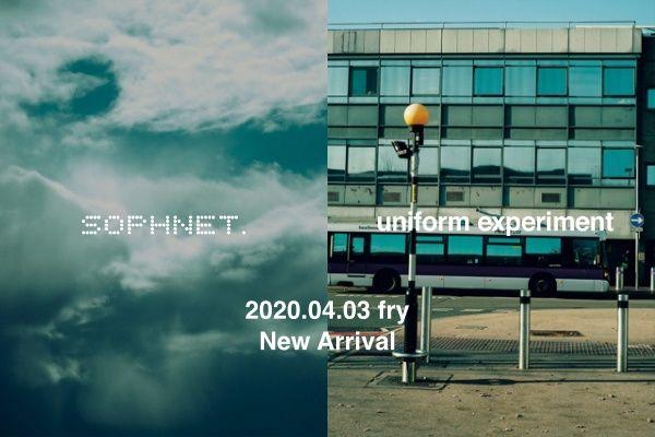 SOPHNET. uniform experiment  2020.4.3 thu New Arrivalの写真