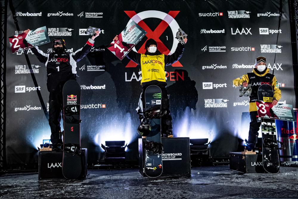 FIS SNOWBOARD WORLD CUP LAAX OPEN 平野流佳が2位獲得
