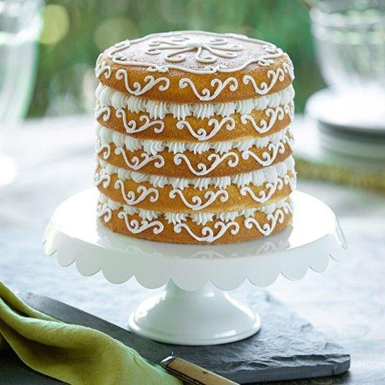「エレガントに♪ナッペ不要のスクロールケーキ。」の写真