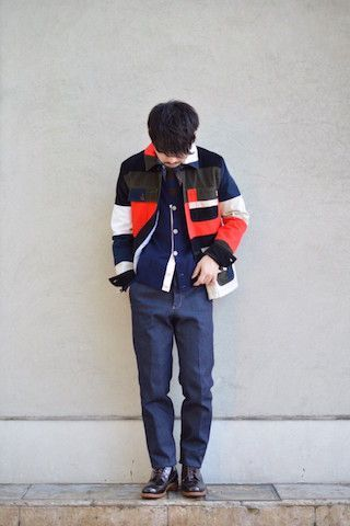 MAISON KITSUNE 『PATCHED WORKER JACKET』の写真