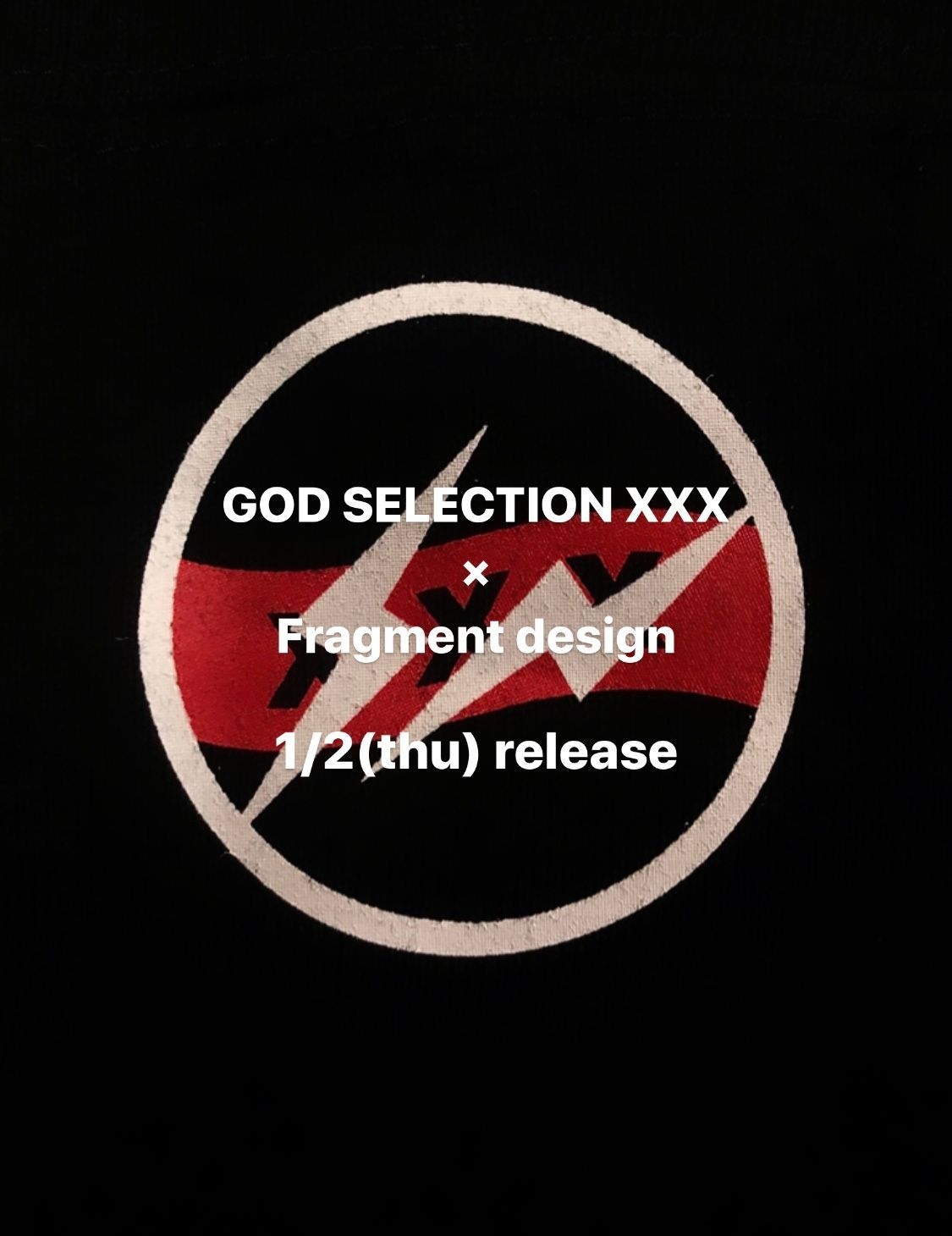 GOD SELECTION XXX × Fragment Design HOODIE 1/2(木)発売の写真
