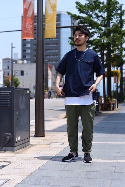 【 White Mountaineering 】/ TWILL ROUND NECK SHORT SLEEVES PULLOVER : Stylingの写真