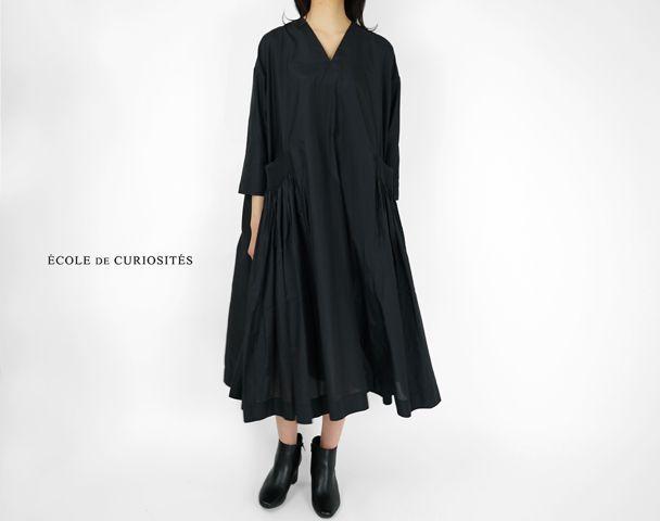 "ECOLE DE CURIOSITE / 新作アイテム入荷""DANIEL SILK COTTON CREPE DRESS""and moreの写真"