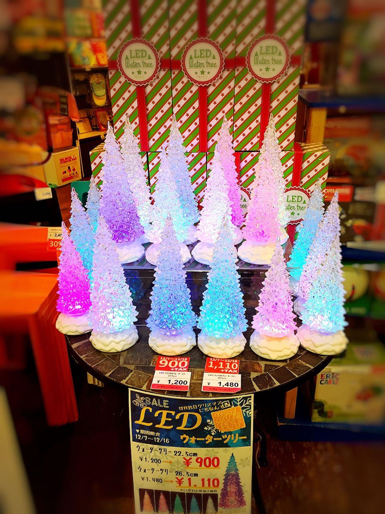 「【特別プライス】LEDクリスタルウォーターツリー」の写真