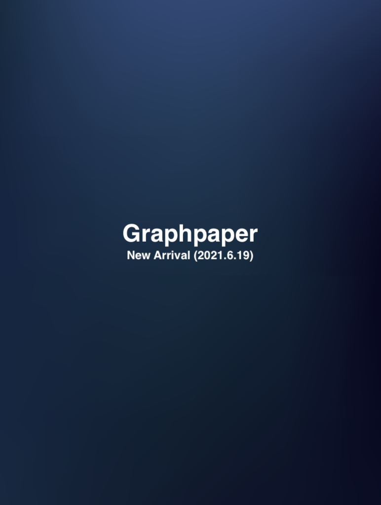 Graphpaper New Arrival (2021.6.19)の写真