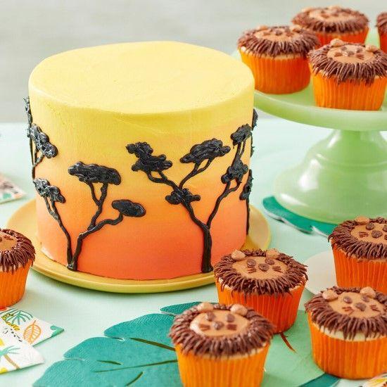 「ライオンのカップケーキを作ってみましょう!」の写真
