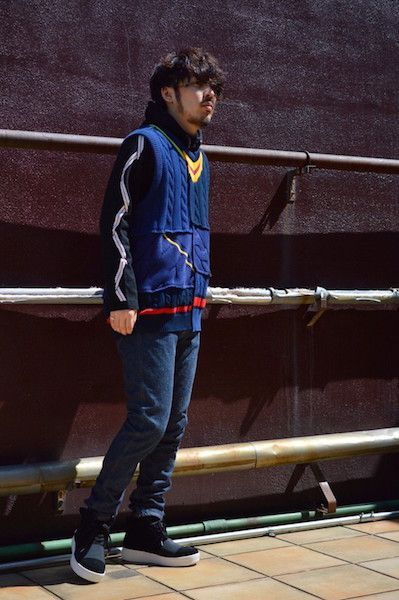 【 FACETASM 】/ COLLEGE VEST : Stylingの写真