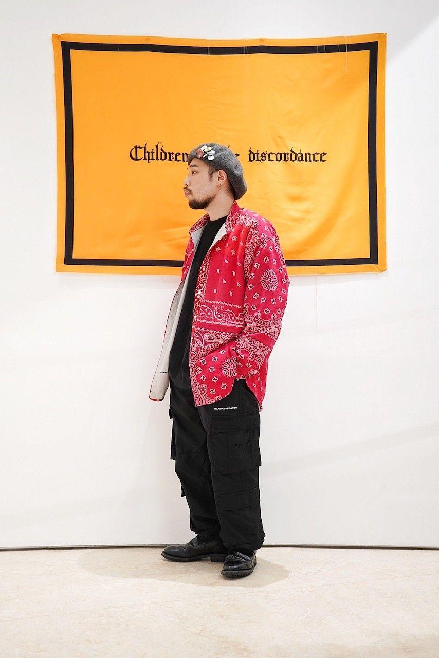 Children of the discordance 【 style 】 / VINTAGE BANDANA PATCHWORK SHIRT LSの写真