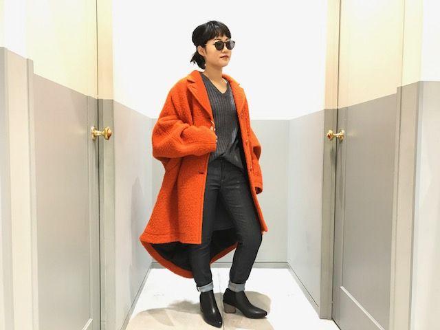 oversize coatの写真