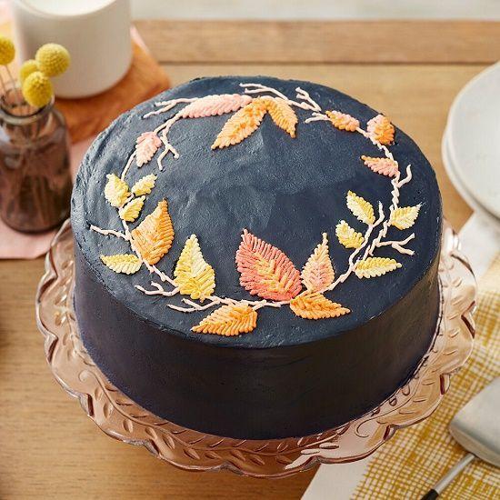 「オータムリーフのケーキを作りましょう♪」の写真