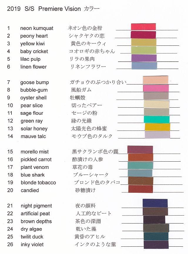 中でもグリーンのツートーンに注目。(3と4、12と11、18と17、24と25)