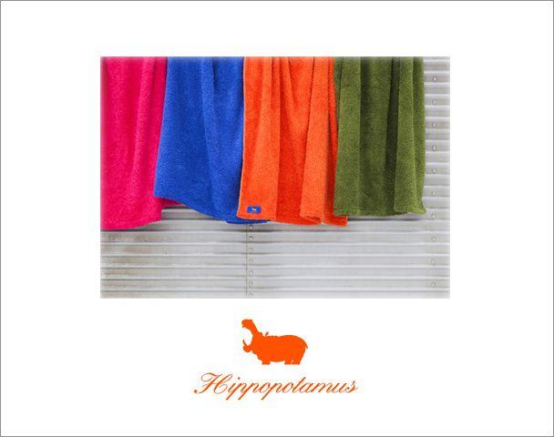 hippopotamus オーガニックコットンタオル再入荷の写真