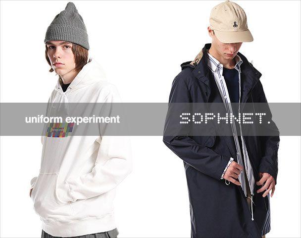 SOPHNET. uniform experiment / 新作アイテム入荷