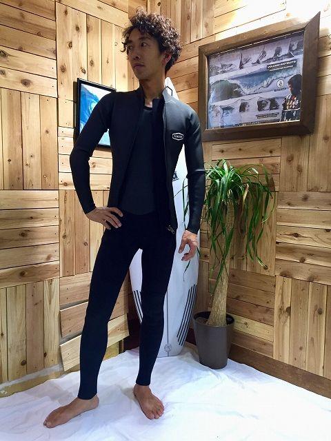 """リンコンのウェットスーツのロングジョンと長袖タッパー"""""""