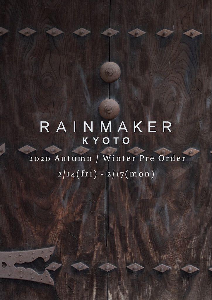 RAINMAKER 2020Autumn / Winter Pre Orederの写真