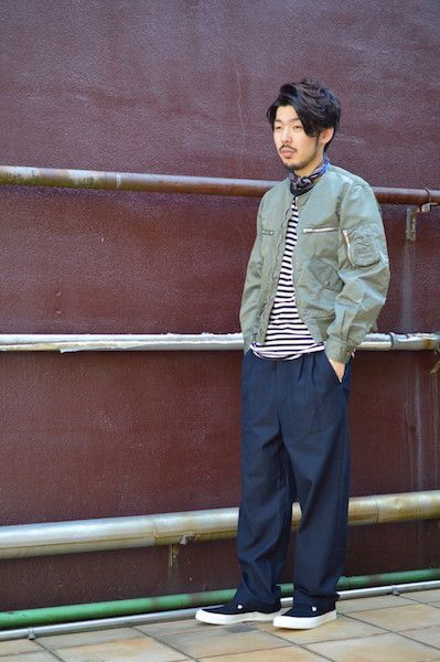 【 The Letters 】/ Collarless Flight Jacket : Stylingの写真