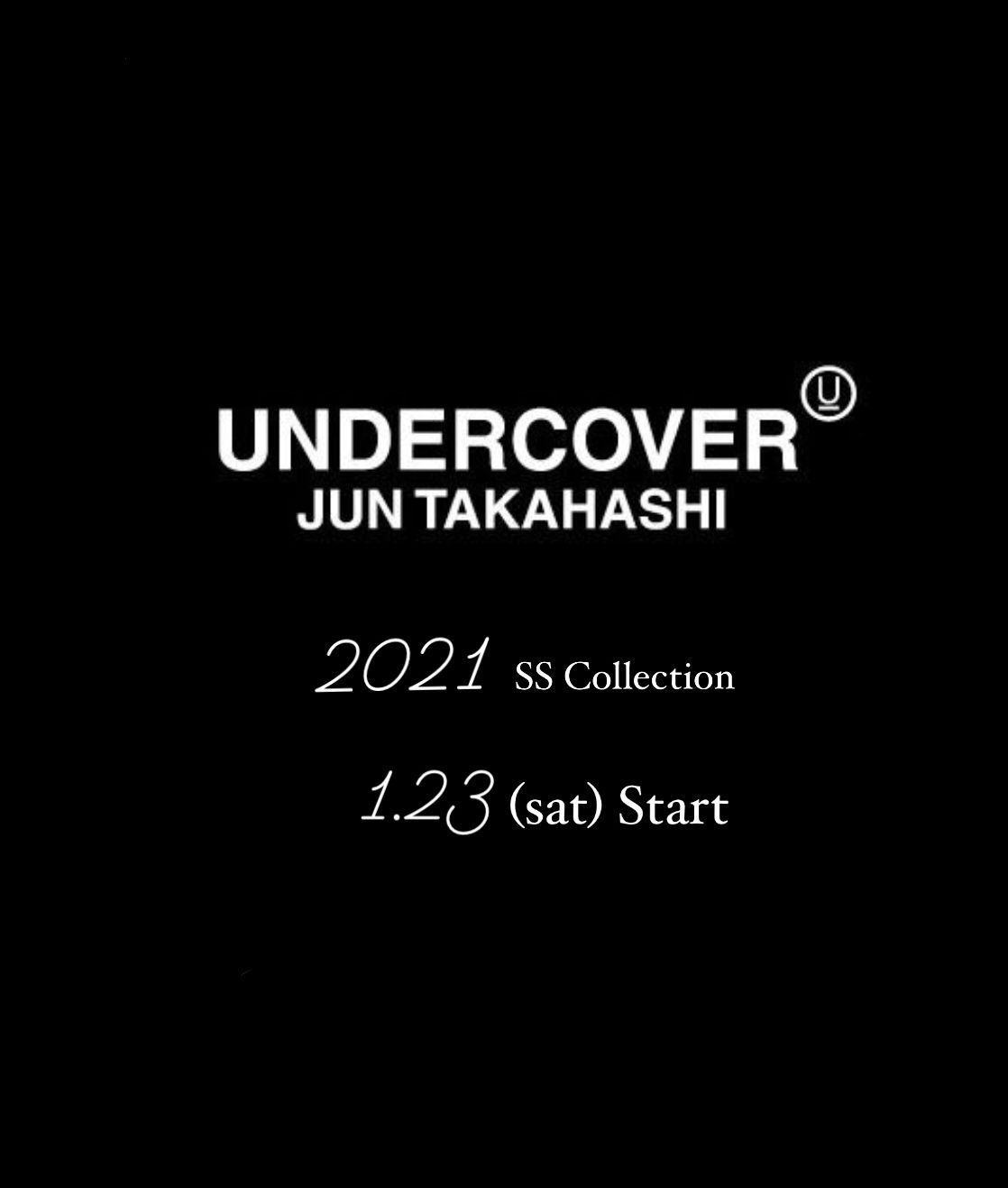 UNDERCOVER 2021SS Collection 1月23日(土)スタートの写真