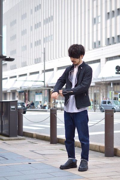 Curved Jacket : Stylingの写真