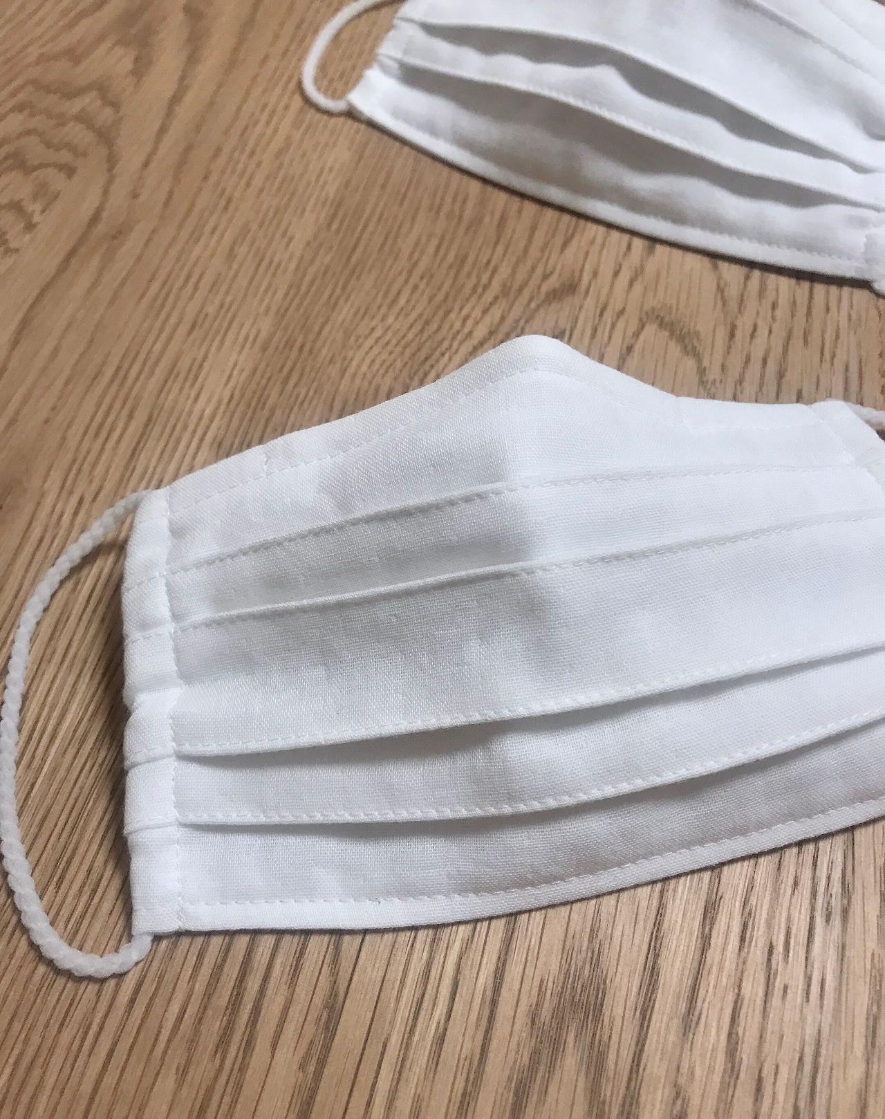 マスク 型紙 プリーツ の