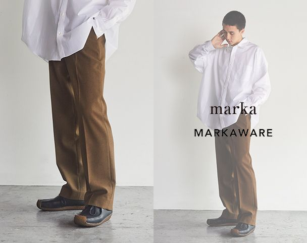"""marka / MARKAWARE / 新作アイテム入荷 """"NEW CLASSIC FIT TROUSERS""""and moreの写真"""