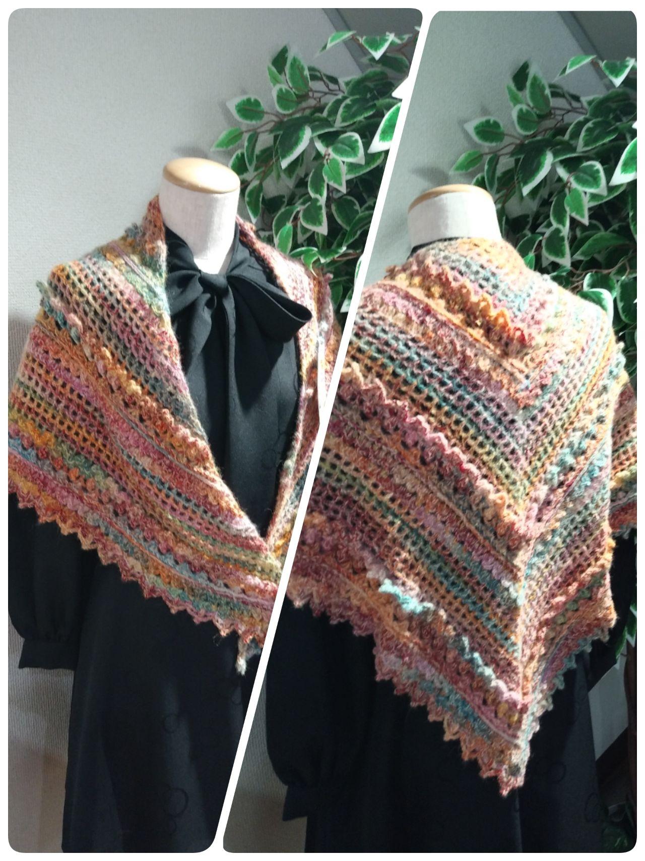 ショール 図 三角 編み