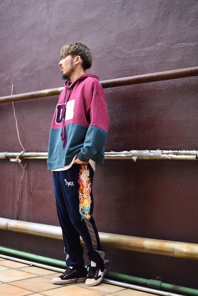 【 doublet 】/ CHAOS EMBROIDERY TRACK PANTS : Stylingの写真