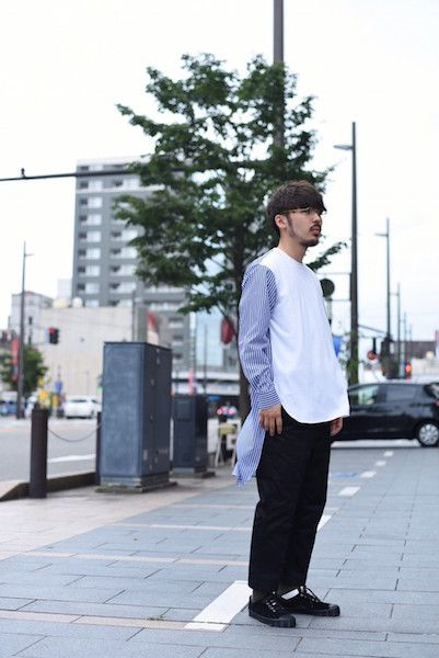 【 COMME des GARCONS SHIRT 】/ Cotton Poplin plain stripe shirtの写真