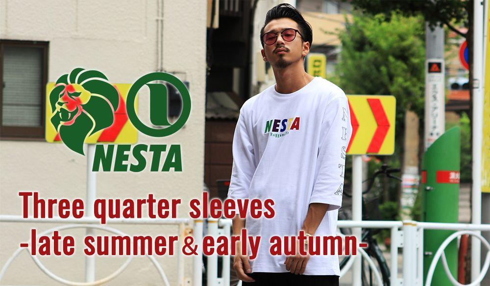 Three quarter sleeves